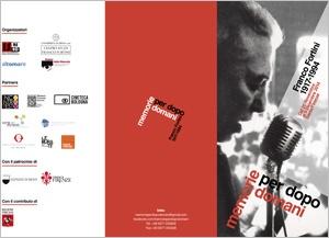 brochure Franco Fortini