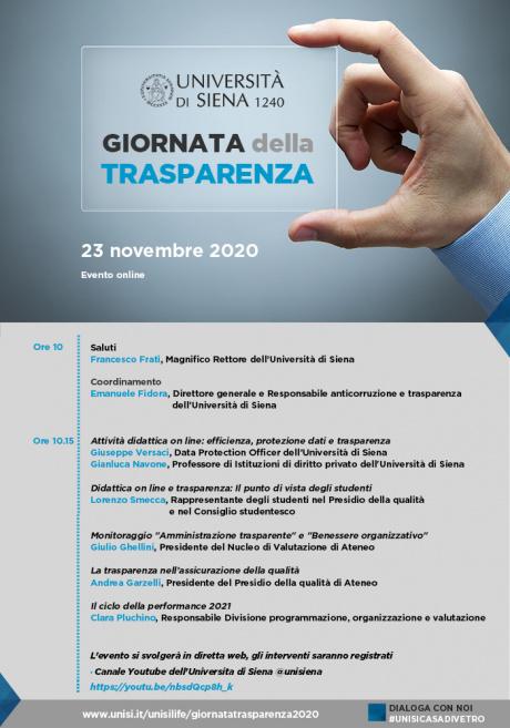Giornata della trasparenza 2020