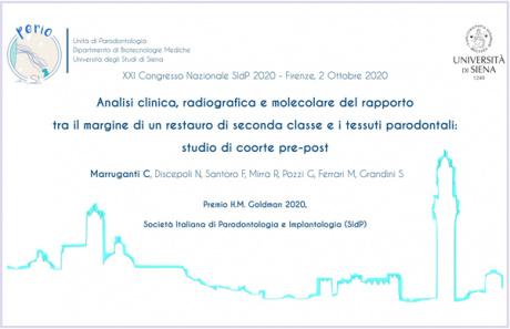 Premio Goldman all'Unità di Parodontologia - dipartimento di Biotecnologie