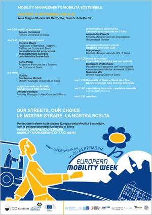 locandina Mobility management e mobilità sostenibile