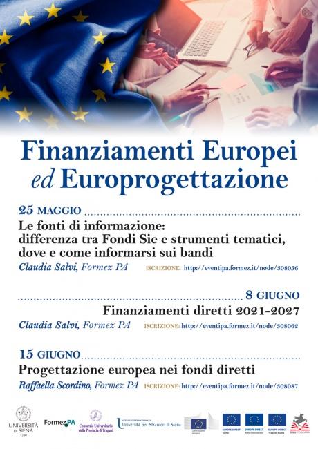 finanziamenti europei ed europrogettazione
