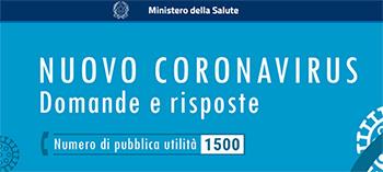 banner Ministero salute contatti