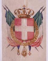 Labaro con stemma sabaudo