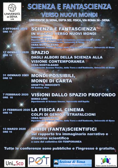 """Ciclo di incontri """"Scienza e fantascienza: verso nuovi mondi"""""""