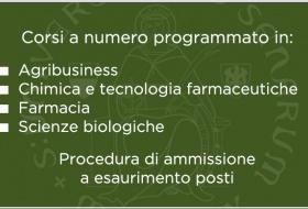 Ammissione ai corsi di laurea in Farmacia, Ctf, Scienze biologiche e Agribusiness
