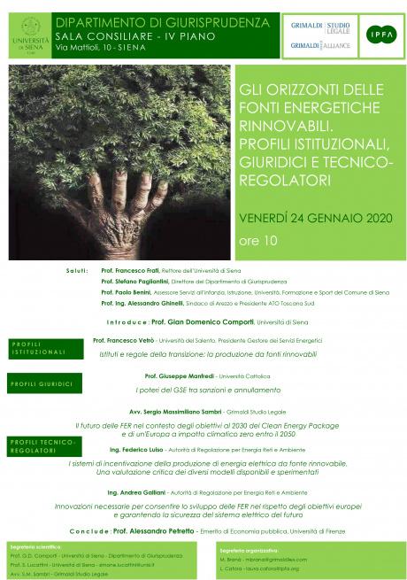 """Seminario """"Gli orizzonti delle fonti energetiche rinnovabili"""""""