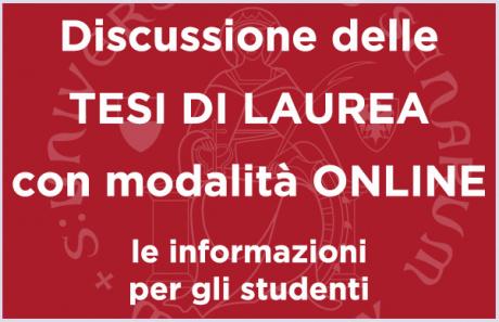 Discussione delle tesi on line: le informazioni per gli studenti