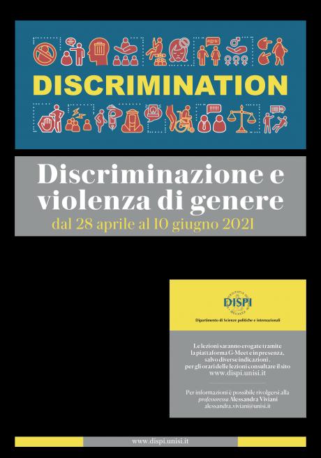 """Terza corso multidisciplinare """"Discriminazione e violenza di genere"""""""
