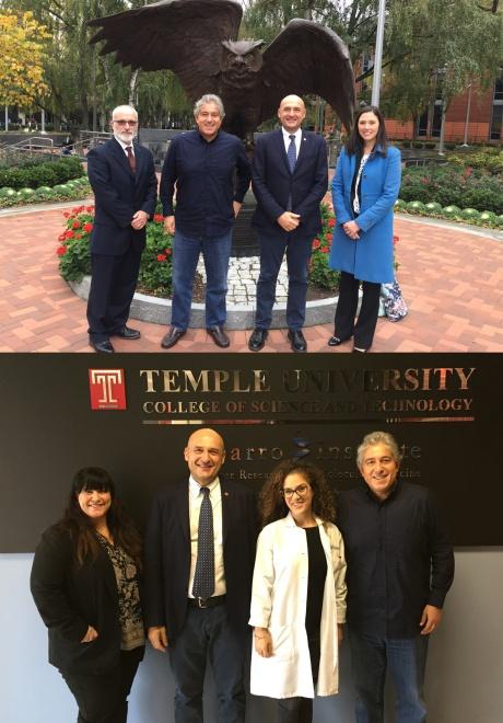 La visita alla Temple University e allo Sbarro Institute