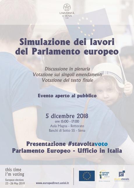 Simulazione dei lavori del Parlamento europeo