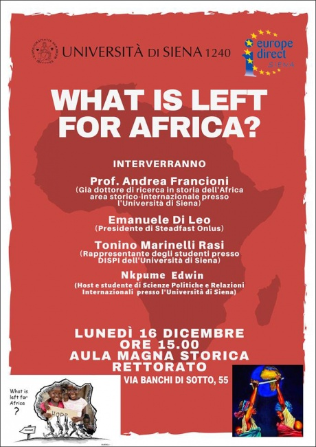 What is left for Africa?
