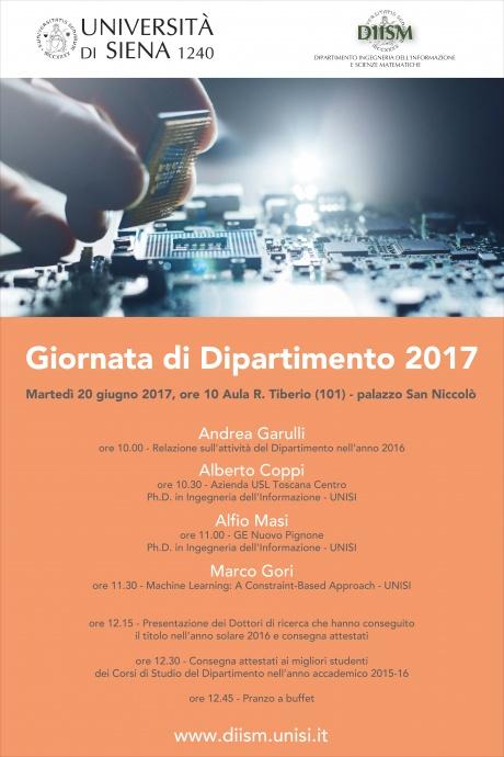 Giornata del dipartimento di Ingegneria dell'informazione e scienze matematiche 2017