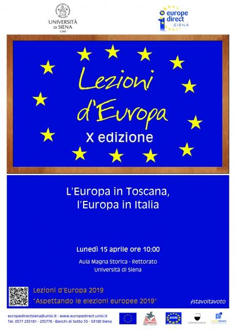 """""""L'Europa in Toscana, l'Europa in Italia"""""""