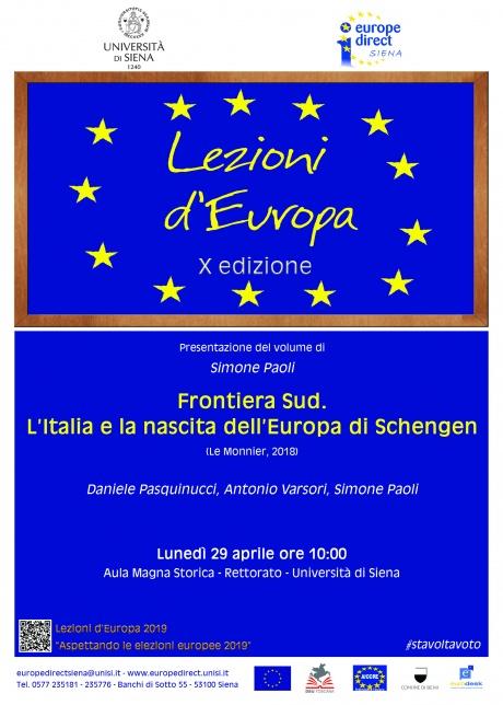 """""""Frontiera Sud. L'Italia e la nascita dell'Europa di Schengen"""""""