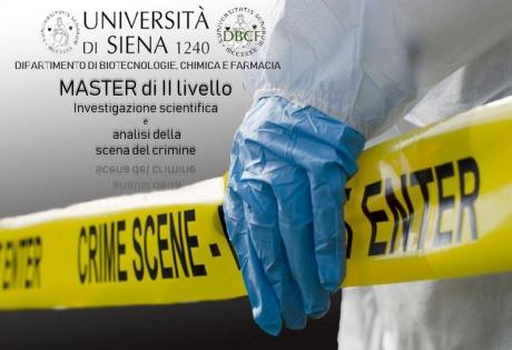 master in Investigazione scientifica e analisi della scena del crimine