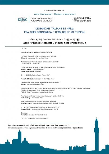 seminario banche italiane