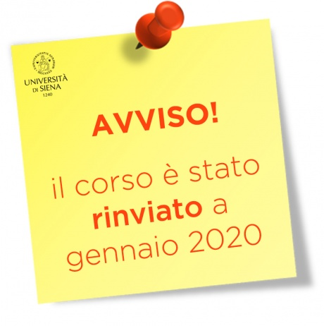 Avviso corso rinviato a gennaio 2020