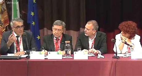 Prof. Riccaboni - foto in occasione incontro della  Rete delle Università per lo Sviluppo Sostenibile - Venezia