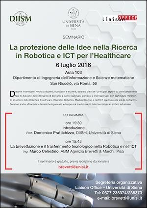 """""""La protezione delle idee nella ricerca in robotica e ICT per l'healthcare"""""""